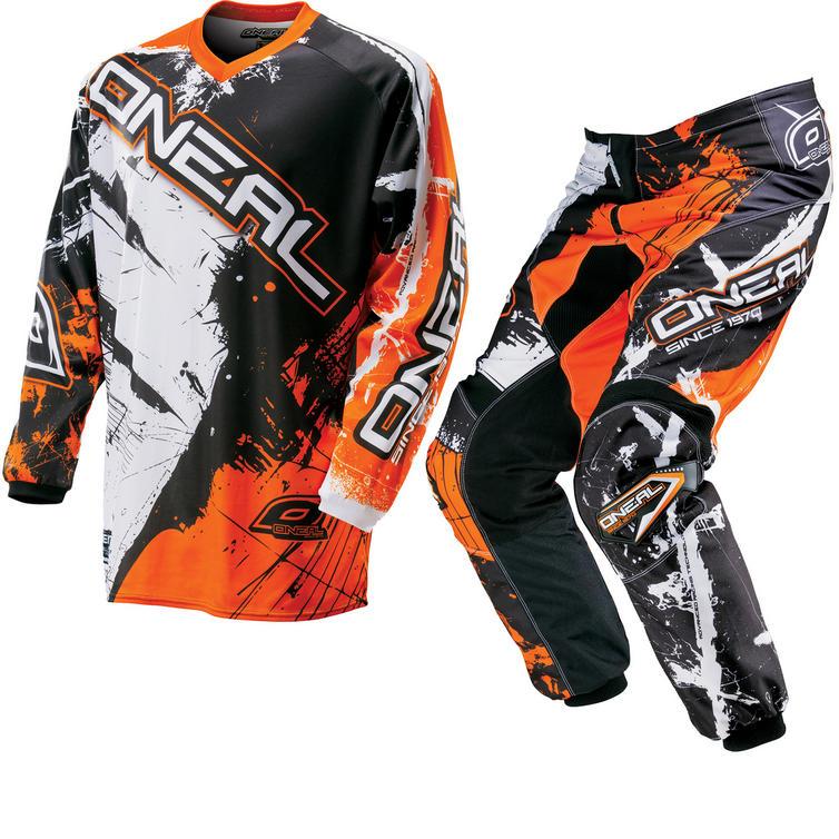 Oneal Element Kids 2016 Shocker Black Orange Motocross Kit