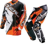 Oneal Element Kids 2016 Shocker Black Orange Motocross Kit