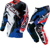 Oneal Element Kids 2016 Shocker Black Red Blue Motocross Kit