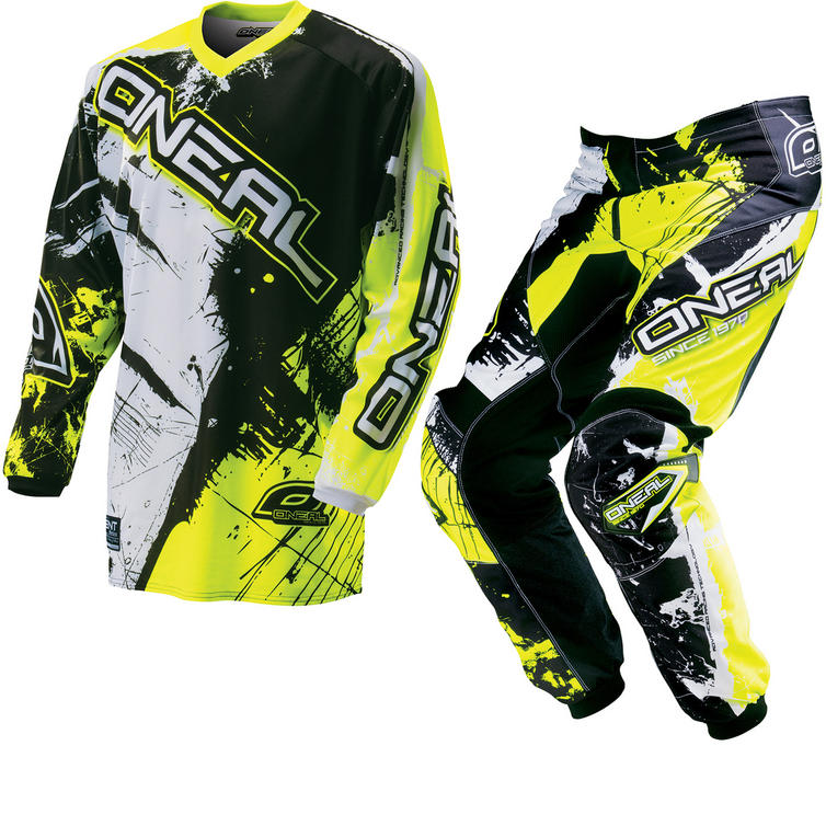 Oneal Element Kids 2016 Shocker Black Hi-Vis Motocross Kit