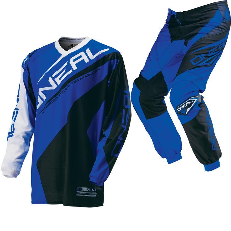Oneal Element Kids 2016 Racewear Black Blue Motocross Kit