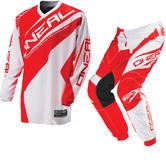 Oneal Element Kids 2016 Racewear White Red Motocross Kit