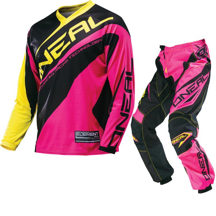 Oneal Element Kids 2016 Racewear Pink Motocross Kit