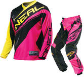 Oneal Element Kids 2016 Racewear Pink Motocross Kit