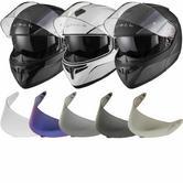 Black Optimus SV Flip Front Motorcycle Helmet Tinted Visor Kit