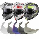 Black Optimus SV Tour Flip Front Motorcycle Helmet & Visor Kit