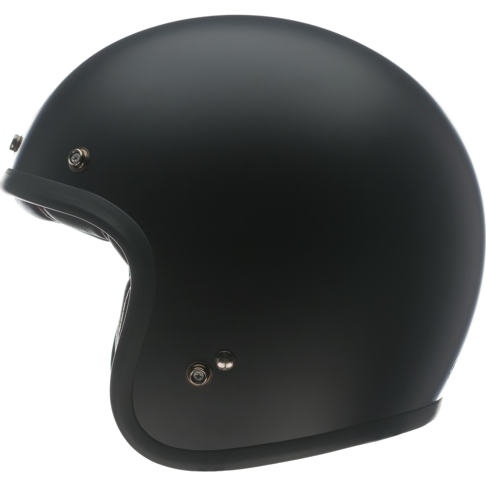 Bell Custom 500 Black Open Face Motorcycle Helmet & Bubble ...