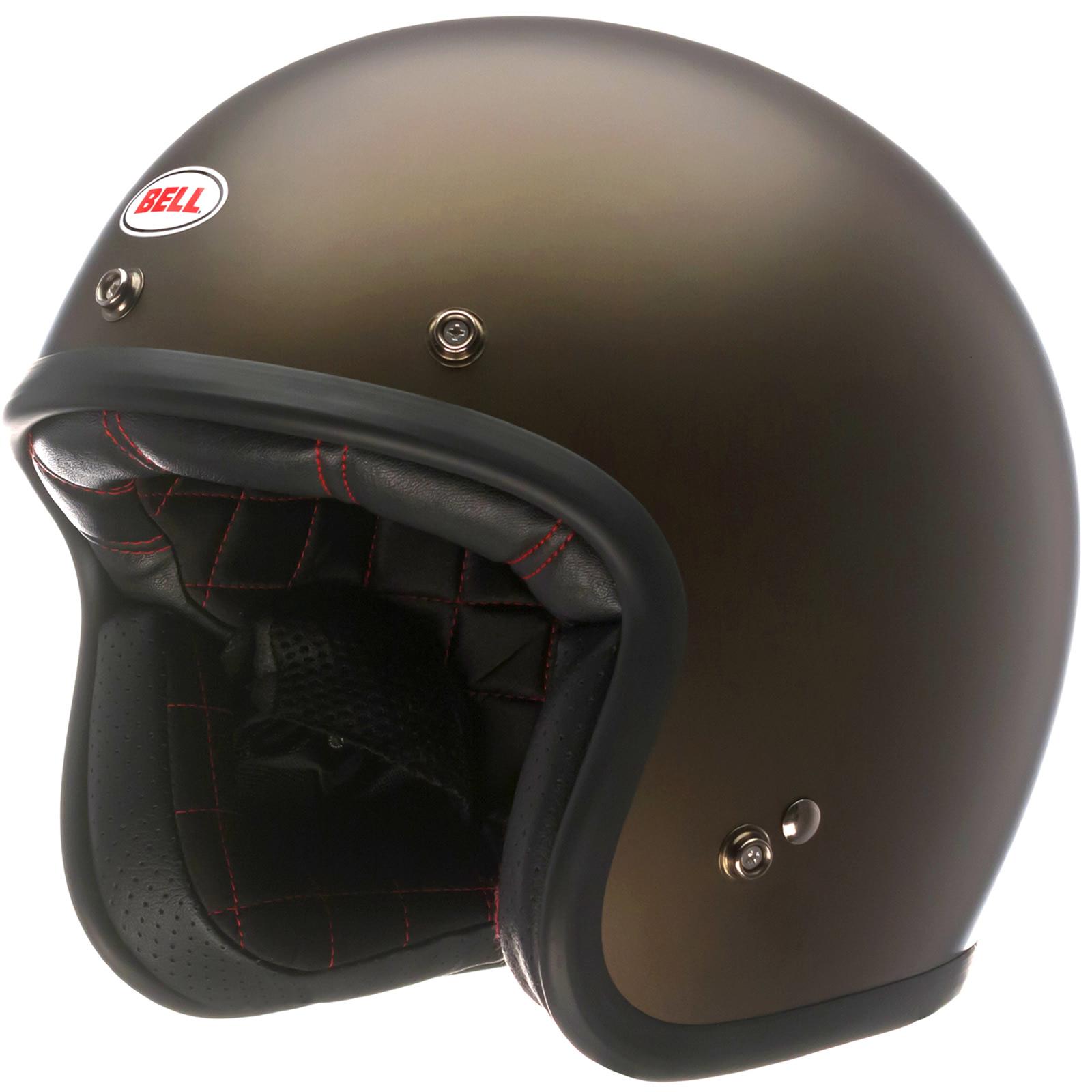 Bell Custom 500 Bubble Visor >> Bell Custom 500 Open Face Scooter Helmet & Optional Bubble Visor Retro Shield   eBay