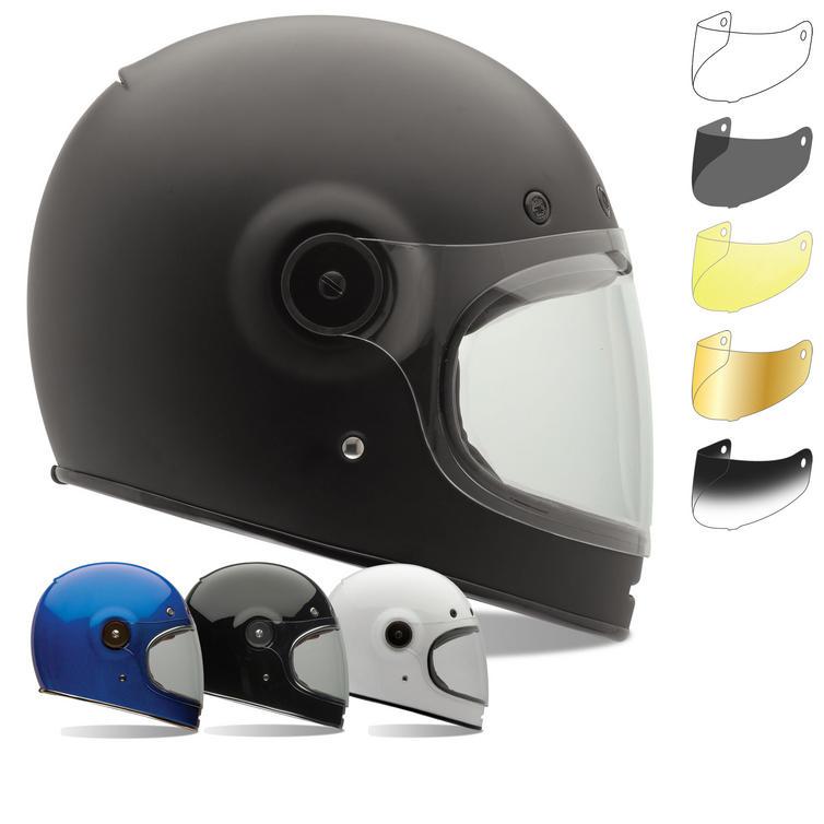 Bell Bullitt Motorcycle Helmet & Brown Tab Bubble Visor