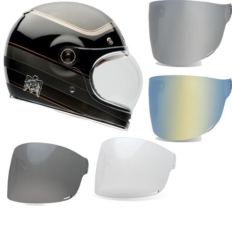 Bell Bullitt Carbon RSD Bagger Motorcycle Helmet & Brown Tab Flat Visor