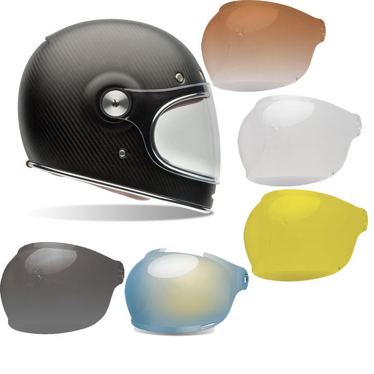 Bell Bullitt Carbon Matte Motorcycle Helmet & Black Tab Bubble Visor