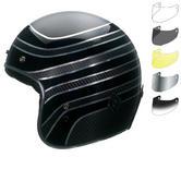 Bell Custom 500 Carbon RSD Talladega Open Face Motorcycle Helmet & Optional Bubble Visor
