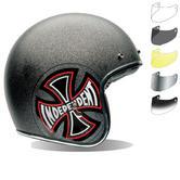 Bell Custom 500 SE Indy Open Face Motorcycle Helmet & Optional Bubble Visor