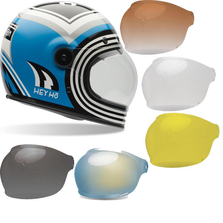 Bell Bullitt SE Barn Fresh Motorcycle Helmet & Brown Tab Bubble Visor