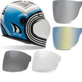 Bell Bullitt SE Barn Fresh Motorcycle Helmet & Brown Tab Flat Visor