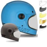 Bell Bullitt Retro Motorcycle Helmet and Black Tab Bubble Visor