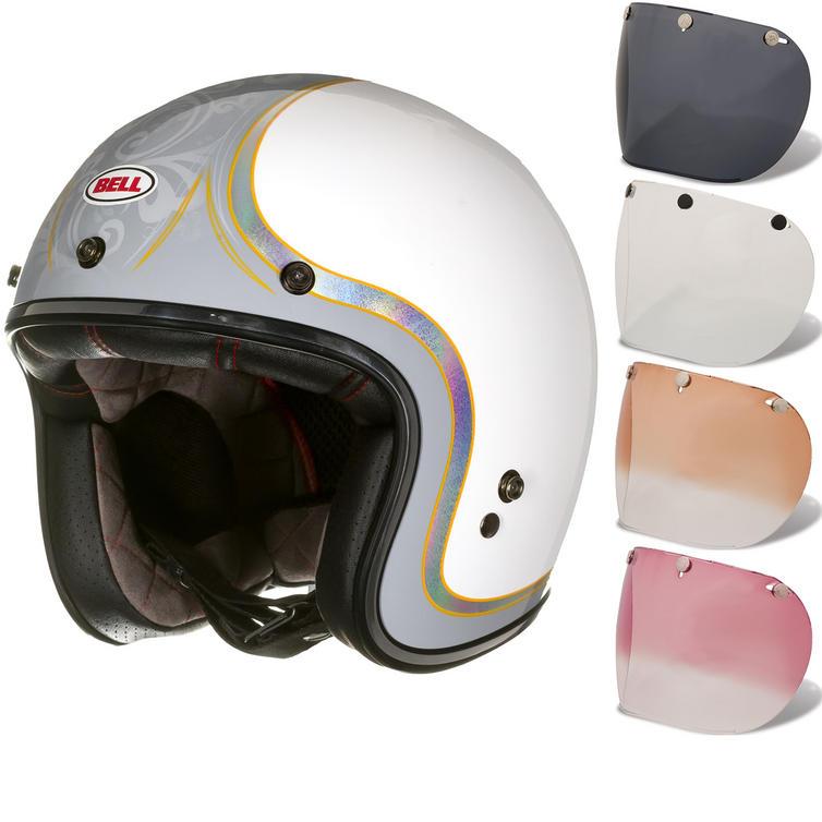 Bell Custom 500 SE Headcase Cueball Open Face Motorcycle Helmet & Optional Fixed Visor