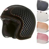 Bell Custom 500 SE RSD Check It Open Face Motorcycle Helmet & Optional Fixed Visor