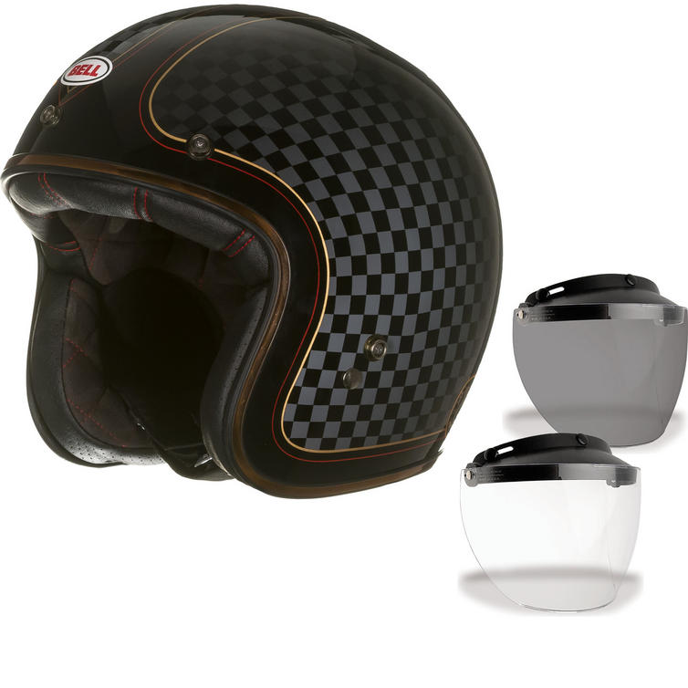 Bell Custom 500 SE RSD Check It Open Face Motorcycle Helmet & Optional Flip Visor