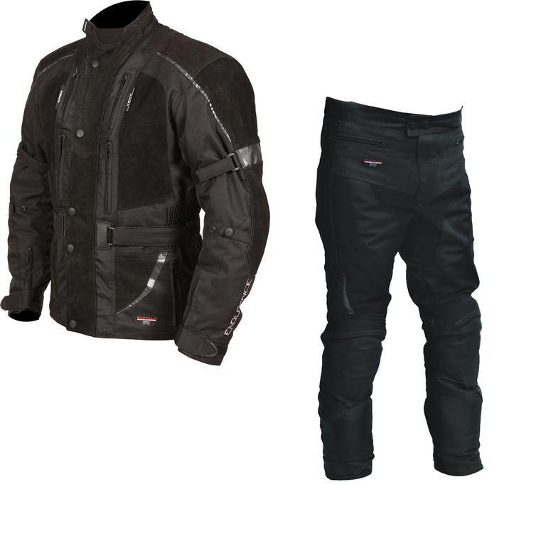 Buffalo Endurance Motorcycle Jacket & Trousers Black Kit