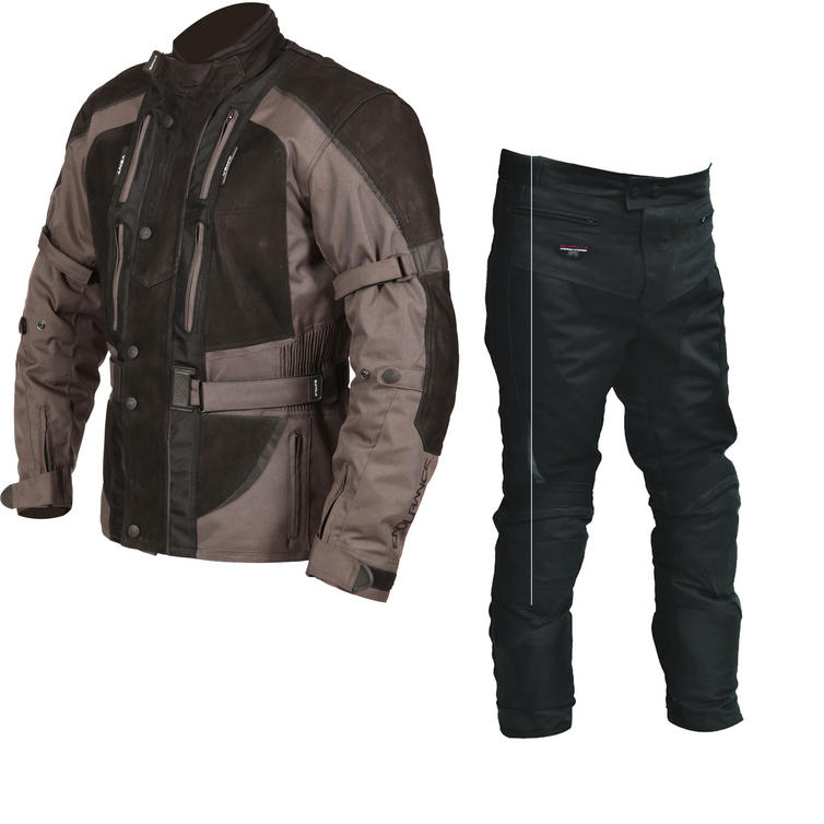 Buffalo Endurance Motorcycle Jacket & Trousers Gunmetal Black Kit