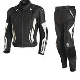 Richa Mugello Leather Motorcycle Jacket & Trousers White Black Kit