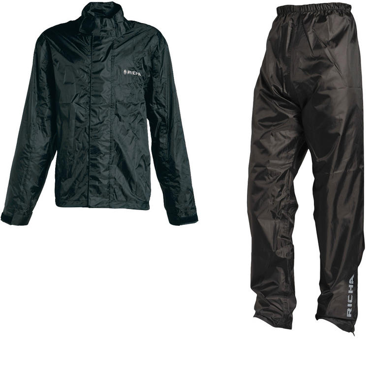 Richa Rain Vent Waterproof Motorcycle Jacket and Trousers Black Kit