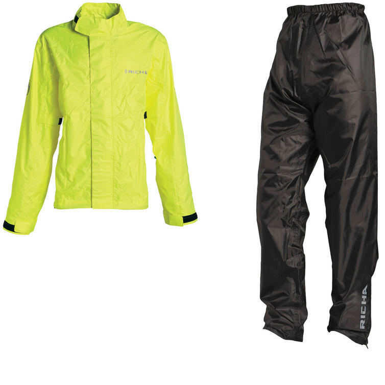 Richa Rain Vent Waterproof Motorcycle Jacket & Trousers Fluo Yellow Black Kit