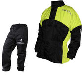 Richa Rain Warrior Motorcycle Jacket and Trousers Fluorescent Black Kit