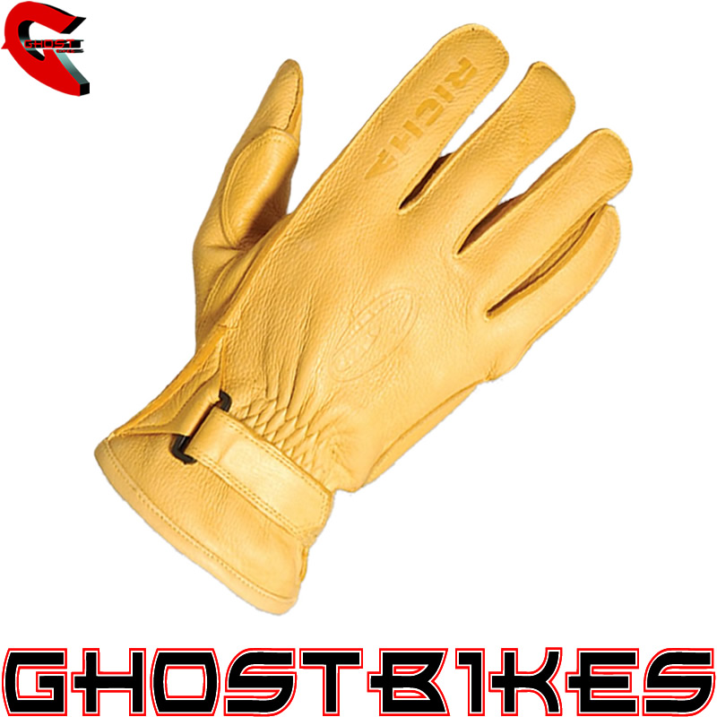 RICHA RENEGADE CHOPPER CRUISER MOTORCYCLE GLOVES TAN XS Enlarged Preview