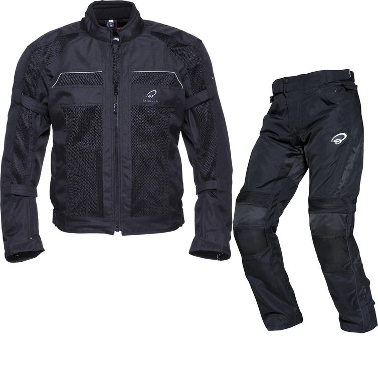 Black Piston Motorcycle Jacket & Atom Trousers Kit
