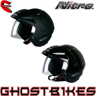 View Item Nitro X512-V Open Face Motorcycle Helmet