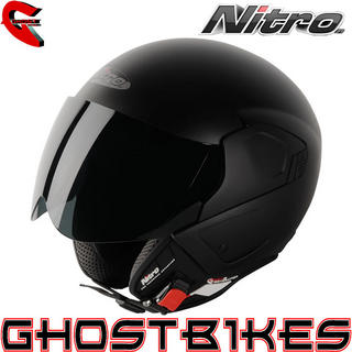 View Item Nitro NGJP Uno Open Face Motorcycle Helmet
