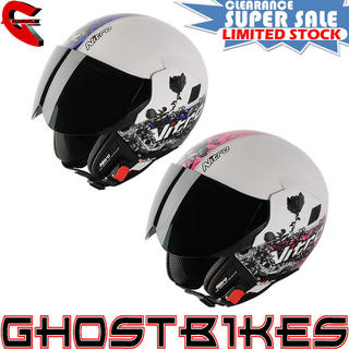 View Item Nitro NGJP Romance Open Face Motorcycle Helmet