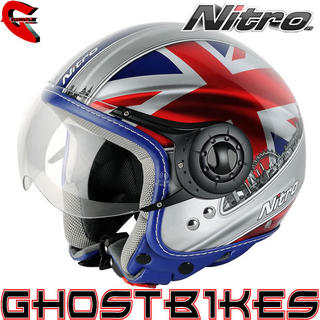 View Item Nitro X548-AV London Open Face Helmet