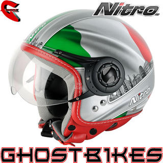 View Item Nitro X548-AV Italy Open Face Helmet