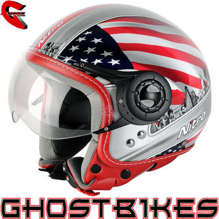 View Item Nitro X548-AV USA Open Face Helmet