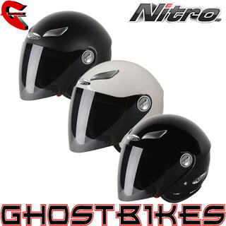 View Item Nitro Mix Tape Open Face Motorcycle Helmet