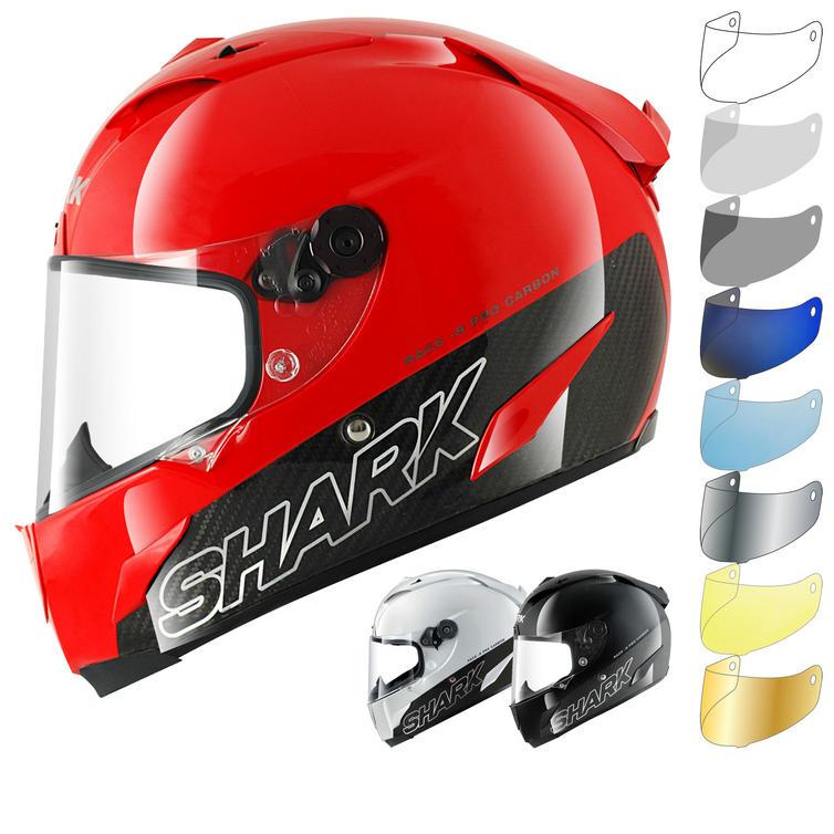 Shark Race-R Pro Carbon Blank Motorcycle Helmet & Visor