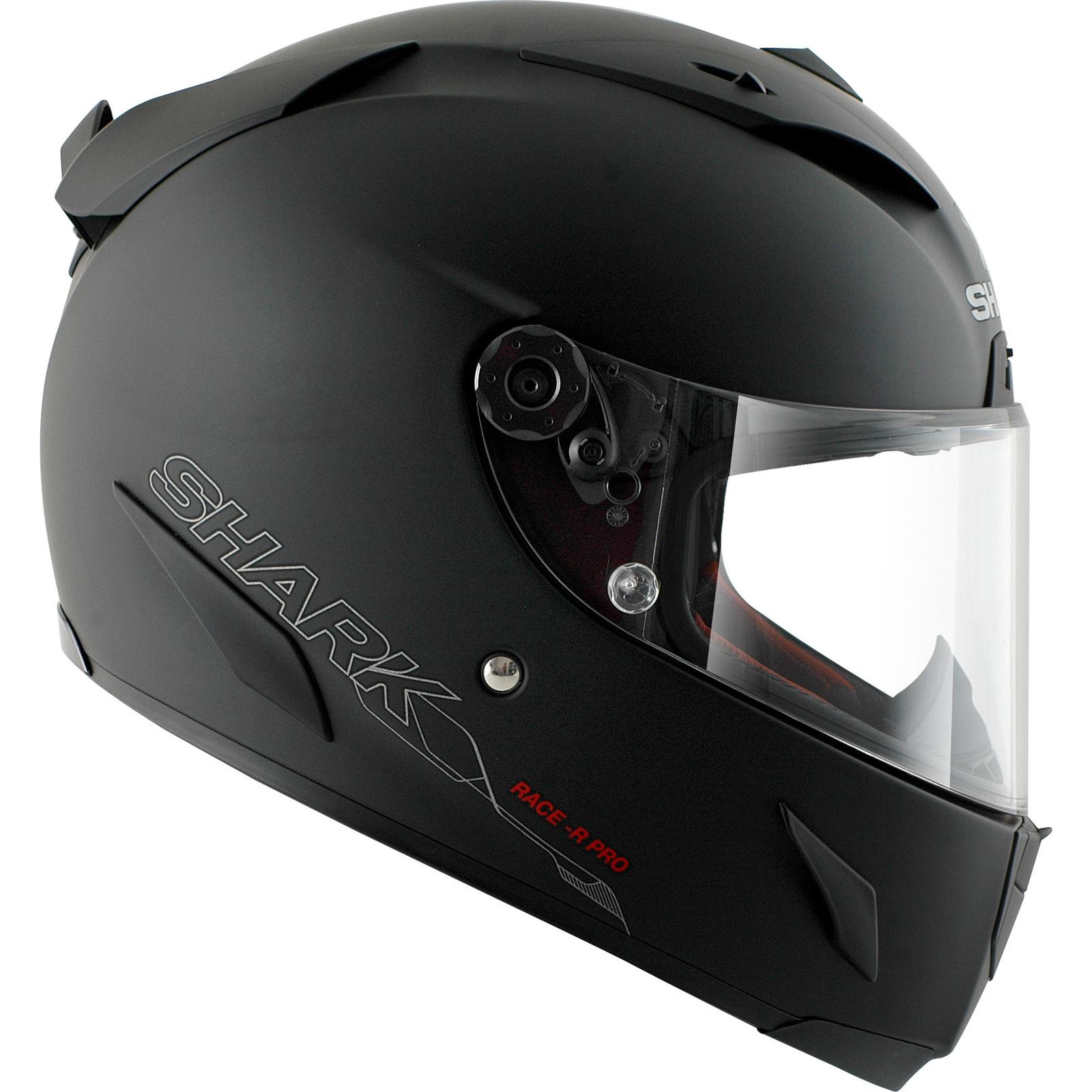 shark race r pro blank matt black motorcycle helmet visor crash protection ebay. Black Bedroom Furniture Sets. Home Design Ideas