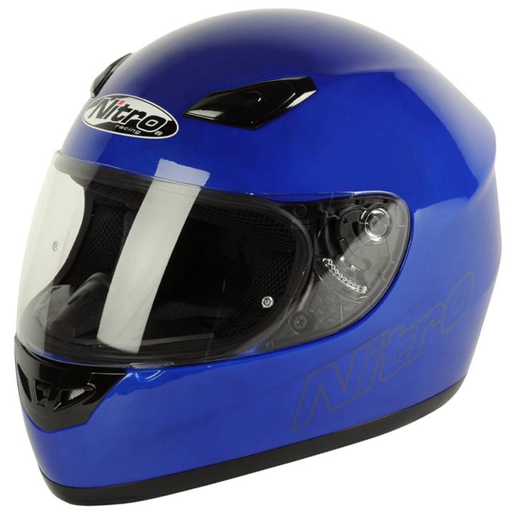 Blue motorbike helmet