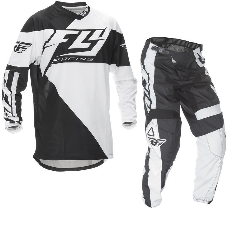 Fly Racing 2016 F-16 Youth Black White Motocross Kit