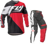 Fly Racing 2016 F-16 Youth Red Black Motocross Kit