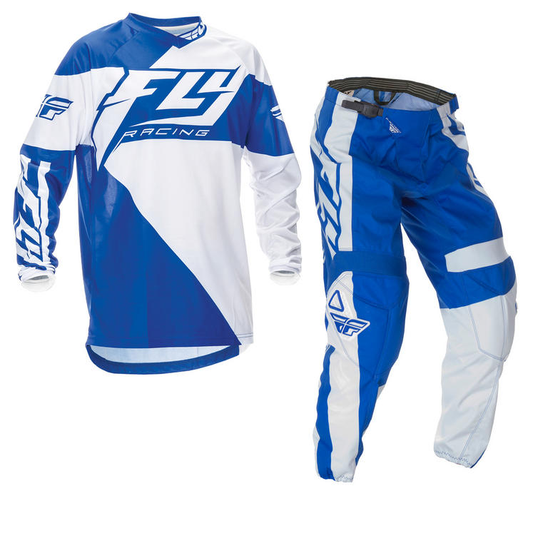 Fly Racing 2016 F-16 Youth Blue White Motocross Kit