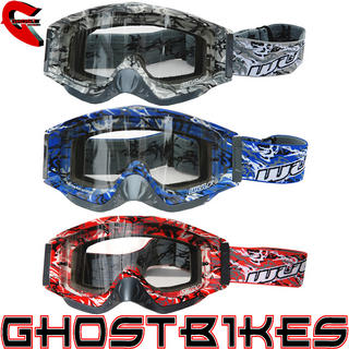 Wulf Abstract Motocross Goggles