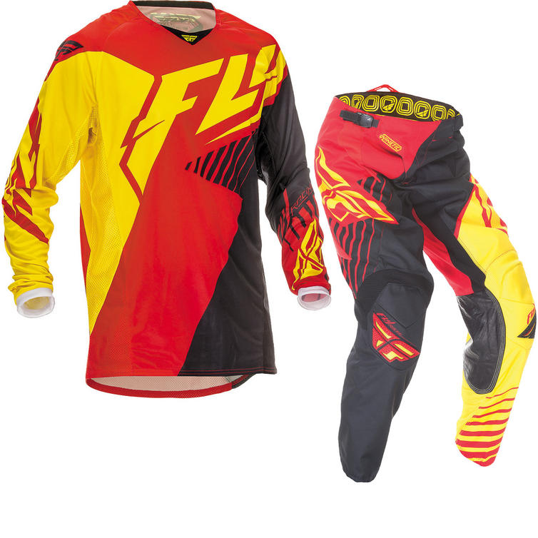 Fly Racing 2016 Kinetic Vector Red Black Yellow Motocross Kit