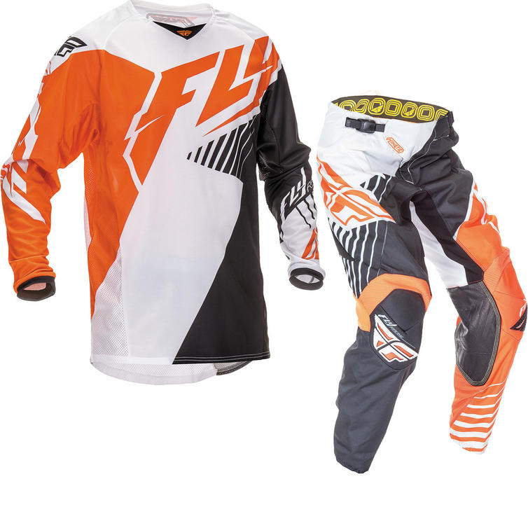 Fly Racing 2016 Youth Kinetic Vector Orange White Black Motocross Kit