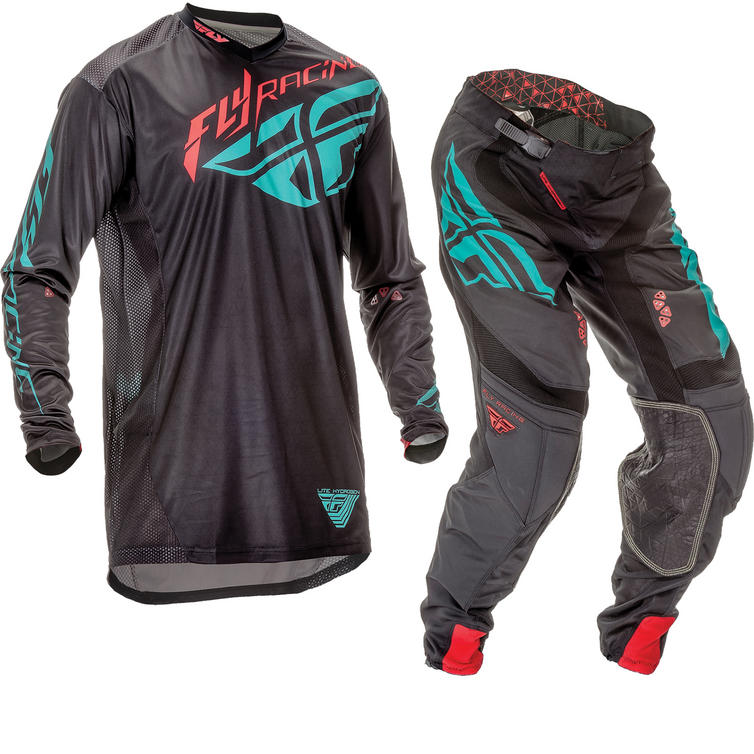 Fly Racing 2016 Lite Hydrogen Black Teal Motorcross Kit