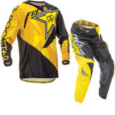 Fly Racing 2016 Kinetic Rockstar Black Yellow Motocross Kit