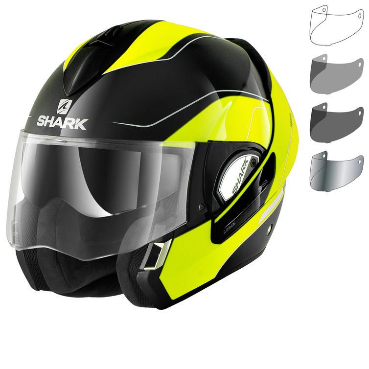 Shark Evoline S3 Arona Hi-Visibility Flip Front Motorcycle Helmet & Visor